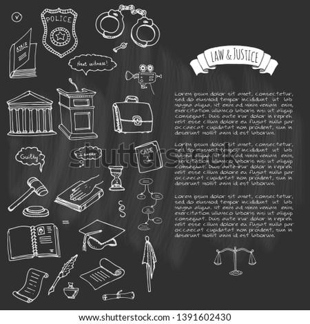 Justice Element Vector Set - Download Free Vectors, Clipart
