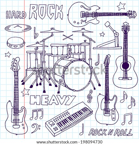 hand drawn doodle musical