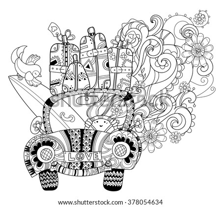 hand drawn doodle outline