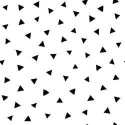 hand drawn doodle triangles seamless pattern