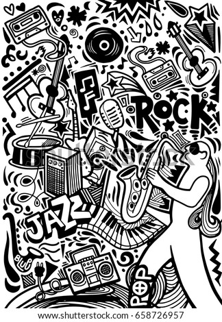 hand drawn doodles musical