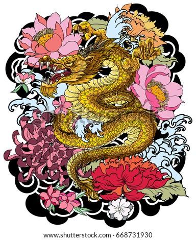 hand drawn dragon tattoo
