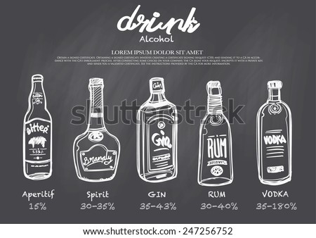 hand drawn drink menu on