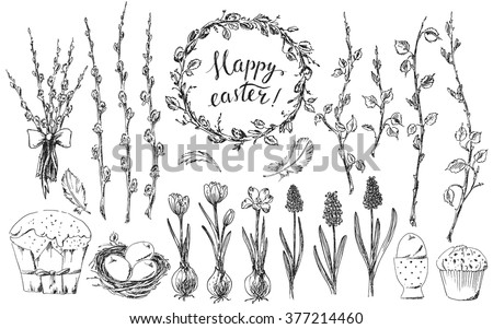 hand drawn easter design