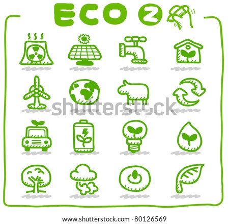 hand drawn eco icon