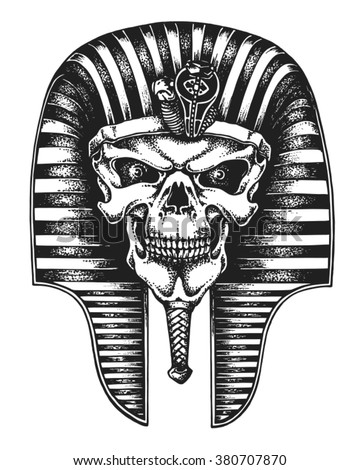 hand drawn egyptian pharaoh