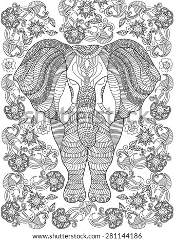 awesome coloring page elephant design contemporary - printable ... - Coloring Page Elephant Design