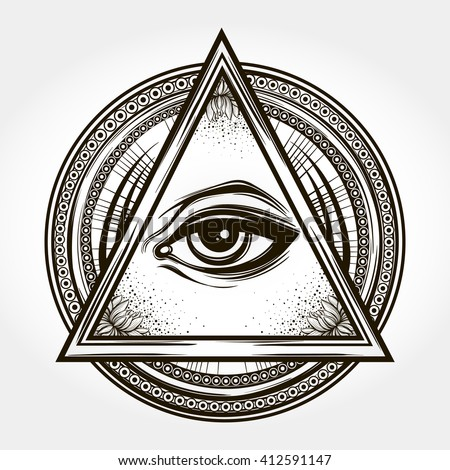 hand drawn eye of providence