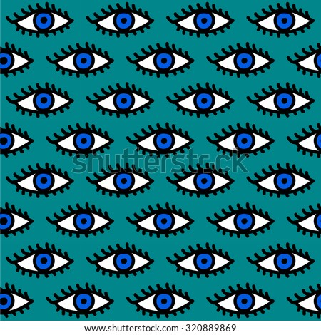 hand drawn eyes pattern