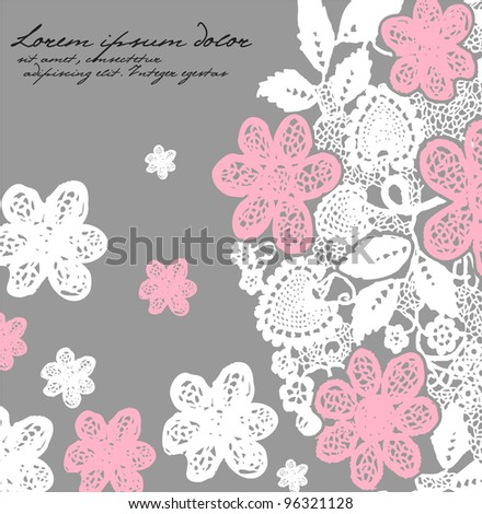 Hand drawn floral background. Eps 10