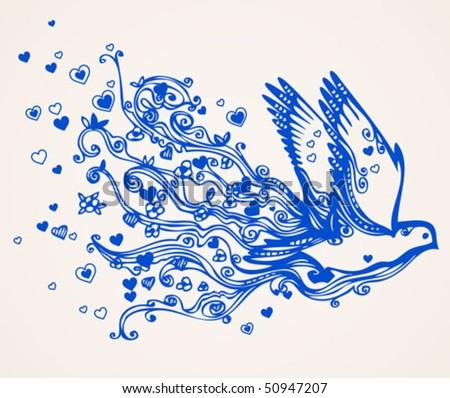 Dove Brings Love And Understanding Stock Vector