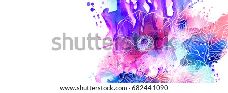 hand drawn floral illustrations