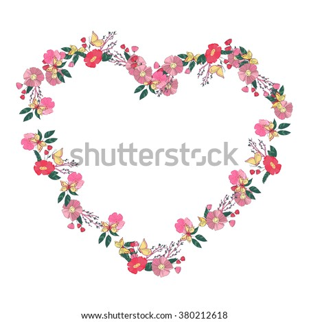 hand drawn flowers arranged un