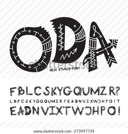 hand drawn font  alphabet made