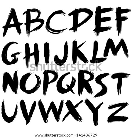 hand drawn font brush stroke