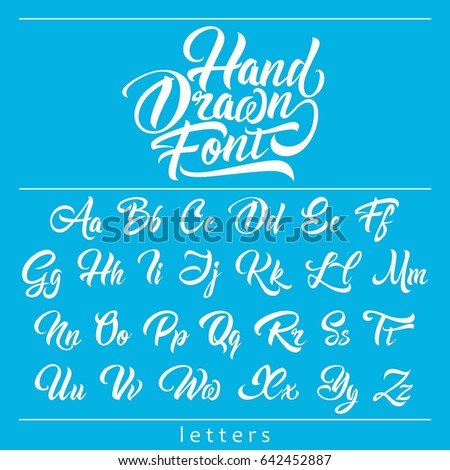 hand drawn fonts, calligraphic brush-pen