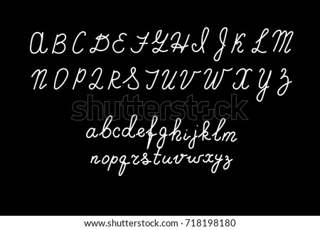 Hand Drawn Fonts Handwritten Alphabet Style Modern Calligraphy Cursive Typeface Lettering Vector Font