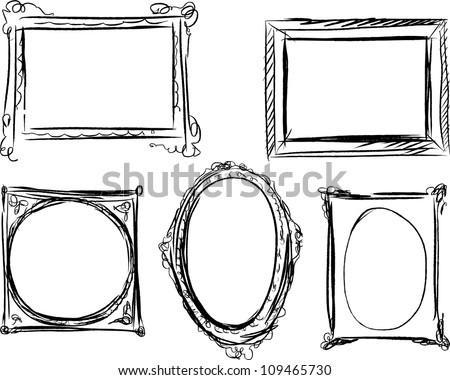 Hand Drawn Decorative Frames Download Free Vector Art Stock