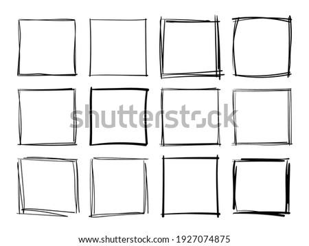 hand drawn frames handdrawn
