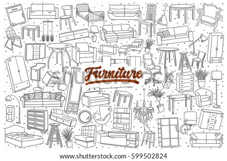 Free Hand Drawn Furniture Vector Background Download Free Vector