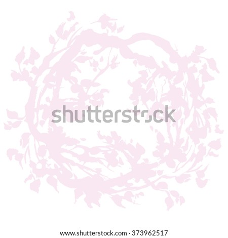hand drawn gentle pink leaf and