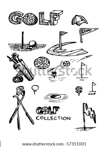 hand drawn golf collection