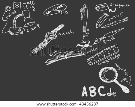 Hand drawn goods Vector Visit my portfolio for big collection of doodles