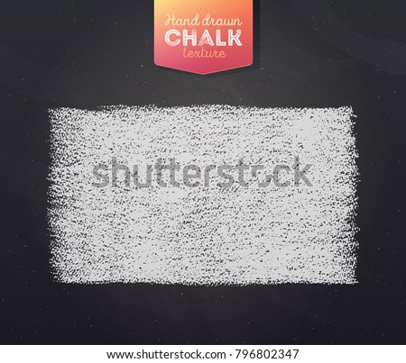 Hand drawn grunge texture created with chalk and charcoal. Chalk banner on black board.  Vector illustration.