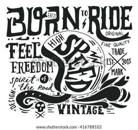 hand drawn grunge vintage