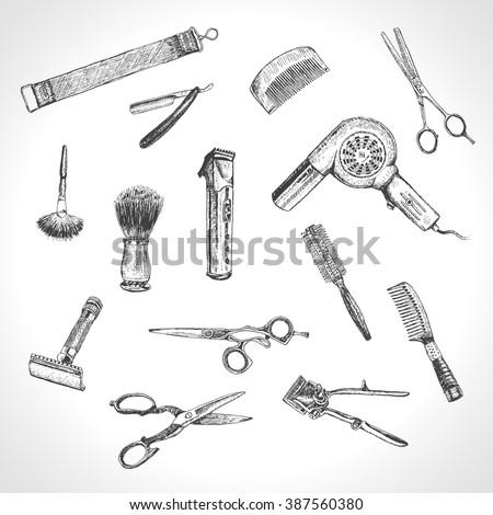 hand drawn hairdressers...