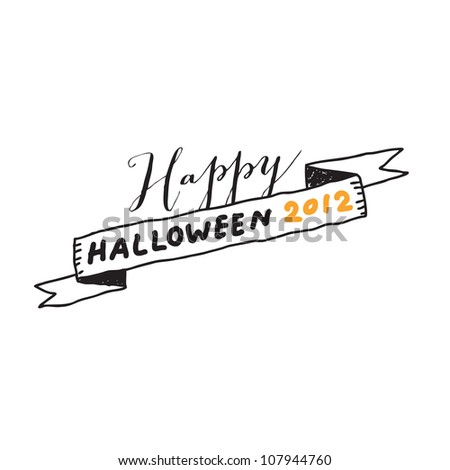 Hand drawn halloween lettering. Vector drawing.