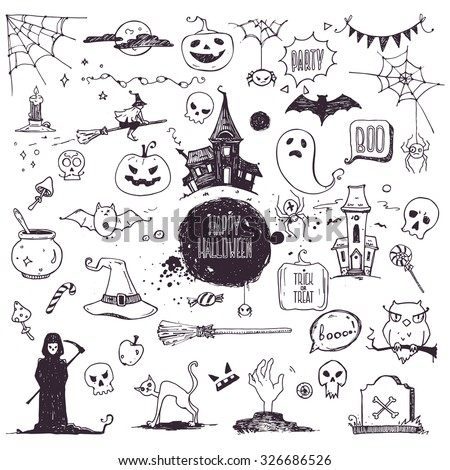 hand drawn halloween