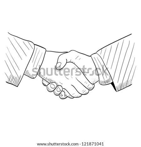 Hand drawn handshake