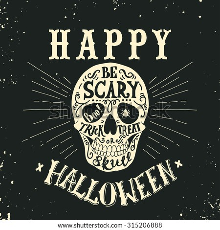hand drawn happy halloween