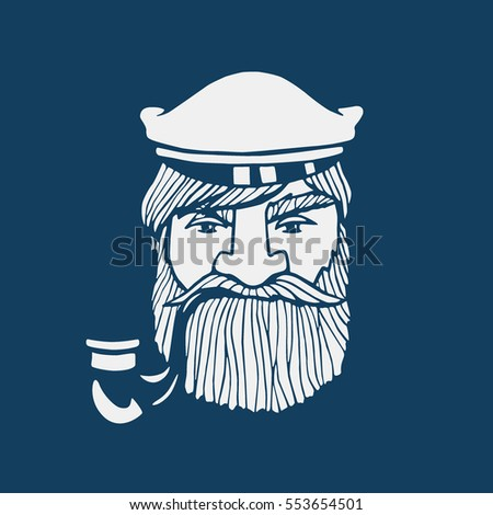 hand drawn head of seaman with