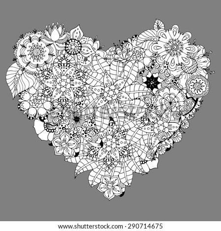 hand drawn heart doodle