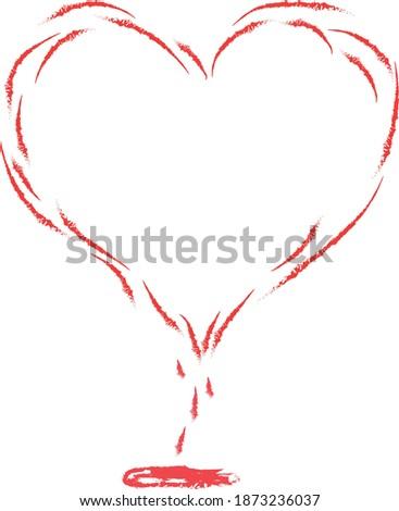 hand drawn heart is bleeding
