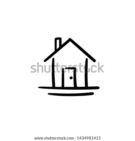 hand drawn house simple vector