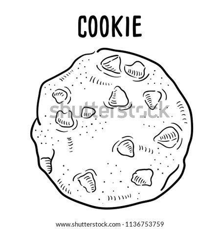 Hand drawn illustration of Cookie.