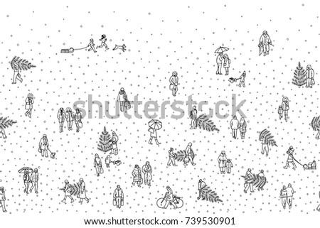 hand drawn illustration of tiny