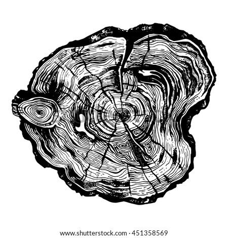 hand drawn illustration of wood