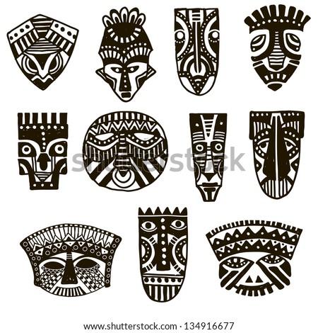vector tribal mask download free vector art free vectors