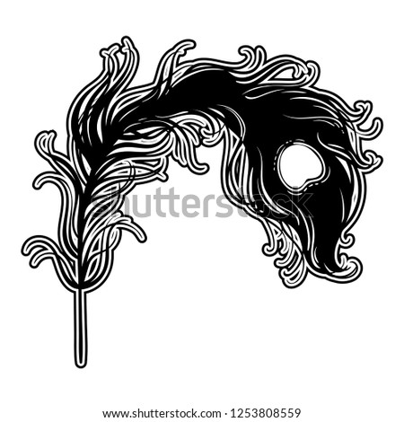 hand drawn illustration with