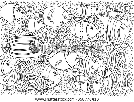 hand drawn ink background with