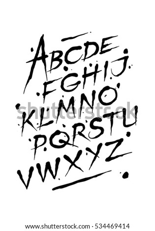 hand drawn ink font editable