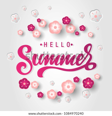Hello Summer Emblems Download Free Vector Art Stock Graphics Images