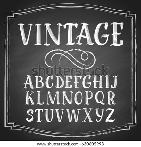 hand drawn latin chalk vintage...