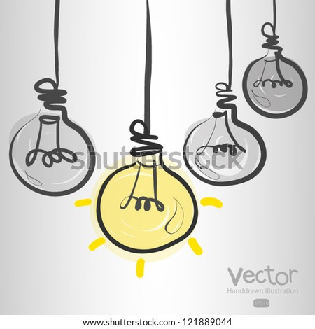 hand drawn leader light bulb