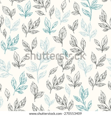 hand drawn leaf seamless