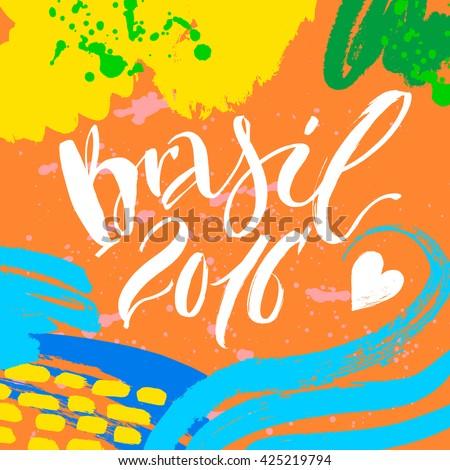 hand drawn lettering brazil